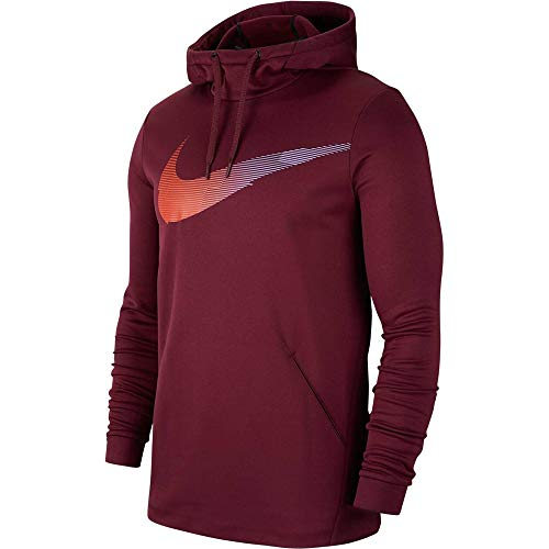 Nike Herren Therma HD PO GFX3 Pullover, Night Maroon, M