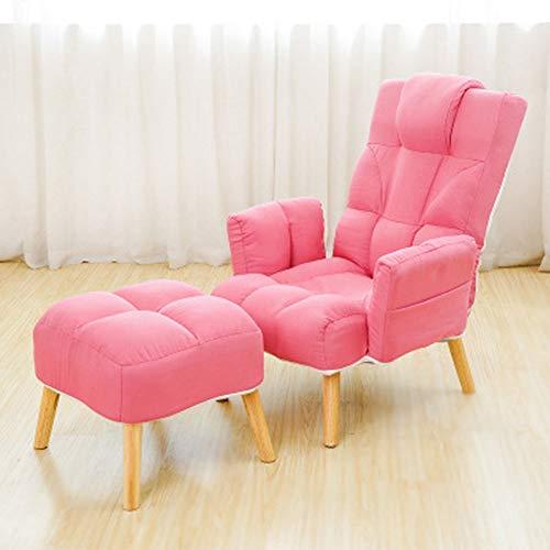 MISHUAI Lounge Sofa Moderne Recliner Sessel mit Ottomane for Wohnzimmer, Schlafzimmer, Club Office Multi-Farbe Optional Weich und bequem...