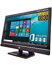 HP 21.5インチ液晶一体型 CompaqPro 6300 AIO/i5-3570s/16GB/SSD:256GB/1080p Full HD/MS Office 2019/ Webカメラ/無線LAN/DVD/Bluetooth/スピーカー内蔵/アースドリームス 無線キーボードセット(整備済み品)