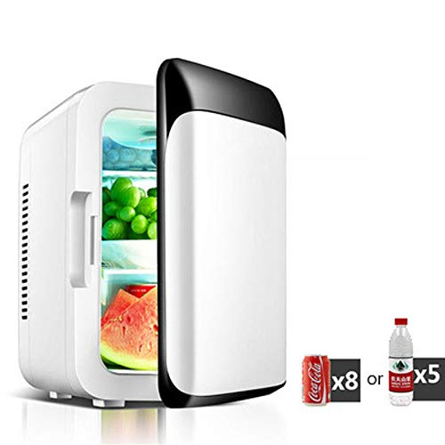 WDFDZSW 8L Household Small Refrigerator, Mini Fridge Electric Cooler and Warmer Dormitory, Car Refrigerator Dual Purpose for Cars, Road Trips, Homes, Offices & Dorms