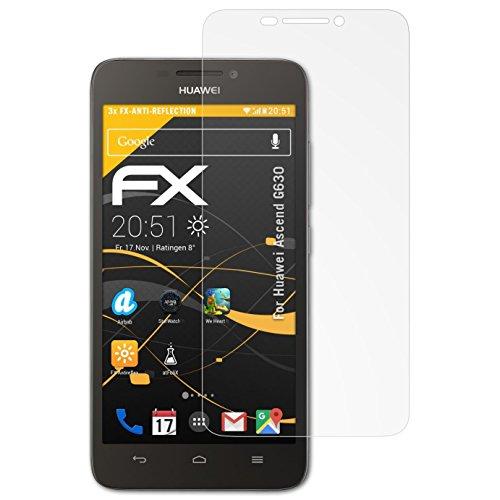 atFolix Panzerfolie kompatibel mit Huawei Ascend G630 Schutzfolie, entspiegelnde & stoßdämpfende FX Folie (3X)