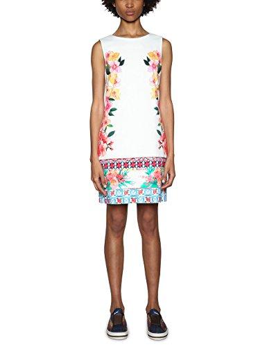 Desigual Damen Vest_Cher Kleid, Weiß (White 1000), 38