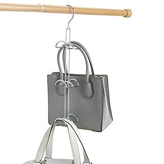 iDesign Axis Metal Hook Handbag Hanger, No Snag Closet Organization Storage Holder, 3.25 x 4.5 x 17.75 Inches, Chrome (B008VQIG7O)   Amazon price tracker / tracking, Amazon price history charts, Amazon price watches, Amazon price drop alerts