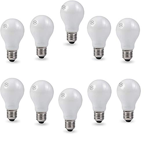 AcornSolution 10 Pack 40W 240V Frosted Light Bulbs E27 Screw Incandescent Lamps [Energy Class E]