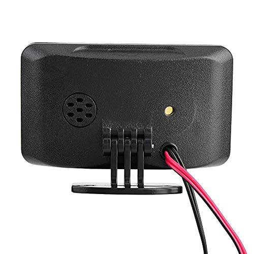 Voltímetro de coche, voltímetro de pantalla LCD de coche accesorio de coche, voltímetro LCD, sensor de agua, 12 V / 24 V / 36 V para coche eléctrico de 12 V 24 V