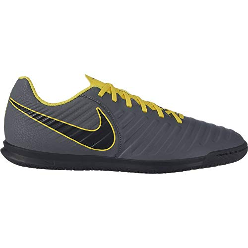 Nike Performance Tiempo Legend VII Club Indoor - Scarpe da calcio da uomo, colore: grigio scuro/giallo