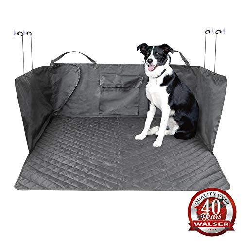 Walser Kofferraumdecke Bello, Kofferraummatte mit Seitenschutz, Universeller Kofferraumschutz, Hundedecke fürs Auto, Wasserabweisende Kofferraummatte 13626