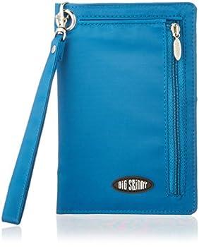 Big Skinny Women s RFID Blocking Plus Size myPhone Bi-Fold Slim Wallet Holds Up to 20 Cards Ocean Blue