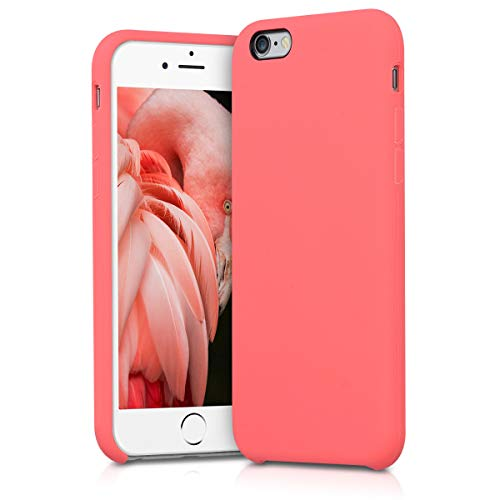 kwmobile Cover Compatibile con Apple iPhone 6 / 6S - Custodia in Silicone TPU - Back Case Protezione Cellulare Corallo Fluorescente