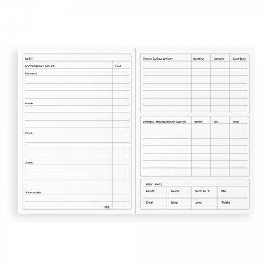 Notizbuch für Sport, Fitness und Ernährung, DIN A6 A6 fuchsia pink - 4