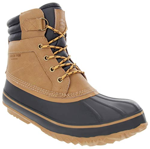 LONDON FOG Mens ASHFORD3 Waterproof and Insulated Duck Boot Tan 8 M US