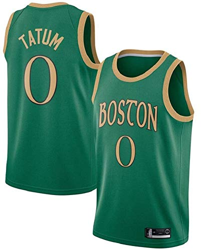CCKWX Camisetas De La NBA - Boston Celtics # 0 Tatum Retro Jerseys del Baloncesto, Fresco Y Transpirable De Tela Unisex Camiseta Sin Mangas,XL:185cm/85~95kg