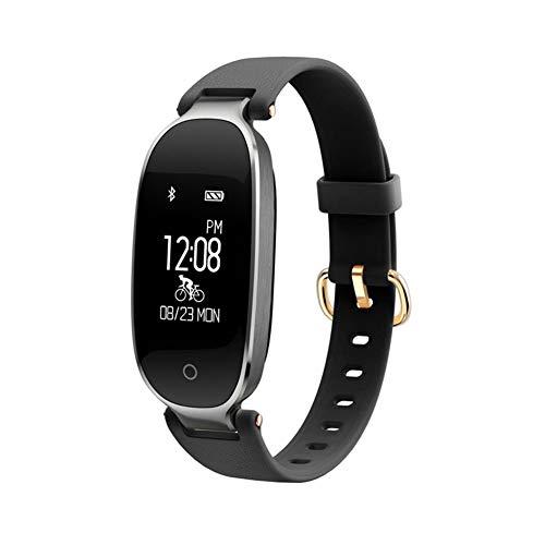 OMJNH Reloj de Las Mujeres, Reloj Inteligente de Control Deportivo Multi-Modo de Pantalla Brillante Mano Elevador Pulsera, para Android sueño, Plataforma de iOS