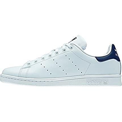 adidas Originals Stan Smith Zapatillas de Deporte Unisex adulto, Blanco (Core White/Running White/New Navy), 43 1/3 EU (9 UK)