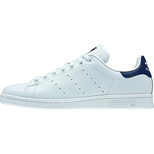 adidas Originals, Stan Smith, Sneakers, Unisex - Adulto, Bianco (Core White/Dark Blue), 42 2/3 EU