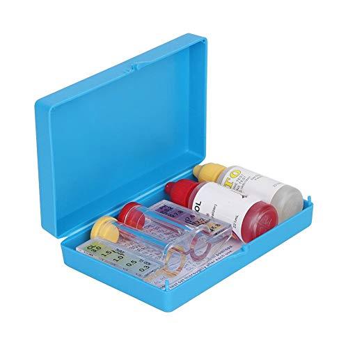 Caja del probador de la calidad del agua, accesorios de la herramienta del probador del agua del cloro PH para la piscina
