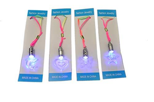 4 X Led Halskette blinkender Delphin/Herz/Stern/Schmetterling