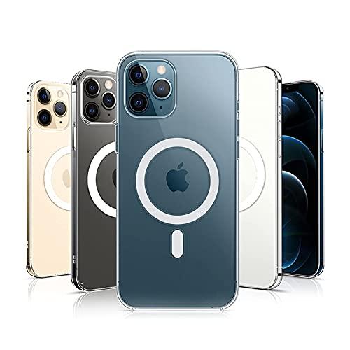 Durchsichtig Magnetic HüLle füR iphone 11 Pro mit Mag-Safe Kabellosem Laden,Anti-Gelb StoßFest TPU Handyhülle Kompatibel mit iphone 11 Pro Hülle Transparent 5.8 Zoll