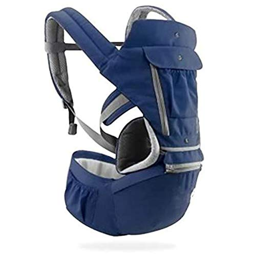 HTTIB Baby Carrier Bag,Infant Kid Baby Hipseat Sling Front Facing Kangaroo Baby Wrap Carrier for Baby Travel (Color : Blue)