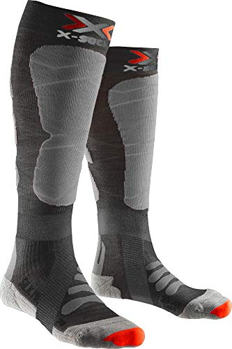 X-Socks SKI Silk Merino 4.0 Socks, Anthracite Melange/G, 45/47
