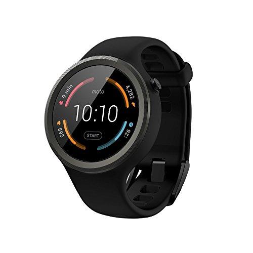 【第2世代】Moto 360 2nd Gen 2015 Smart Watch スマートウォッチ 腕時計 Android Wear iOS対応 (Moto 360 Sport ブラック) 並行輸入品