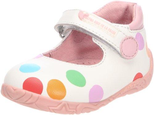 Agatha Ruiz de la Prada Eu - Zapatos de punta redonda de niñas con cierre de velcro [color blanco ; talla 23 (2 a 2.5 años)]