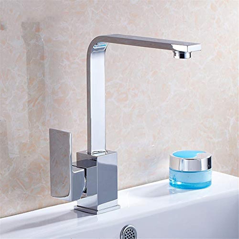 PajCzh Badarmaturen Küchenarmaturen Küchenhahn Sinken Becken über Gegenbecken Heies Und Kaltes Wasser Hahn Quadratischen Flachen Rohr Rotierenden Wasser