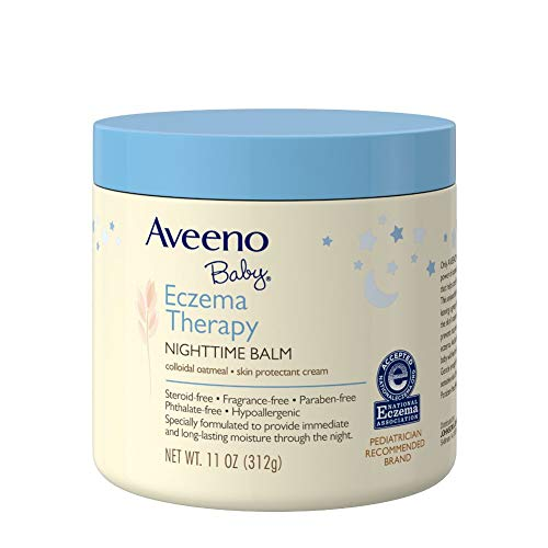 Aveeno Baby Eczema Therapy Nighttime Balm, with natural Colloidal Oatmeal and Dimethicone for Dry Skin and Baby Eczema Relief, 11 oz.