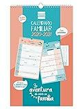 Finocam - Calendario de Pared Familiar 16 Meses 2020-2021 Mes Vista Aventura Español, 540200121, Basic-250 x 400