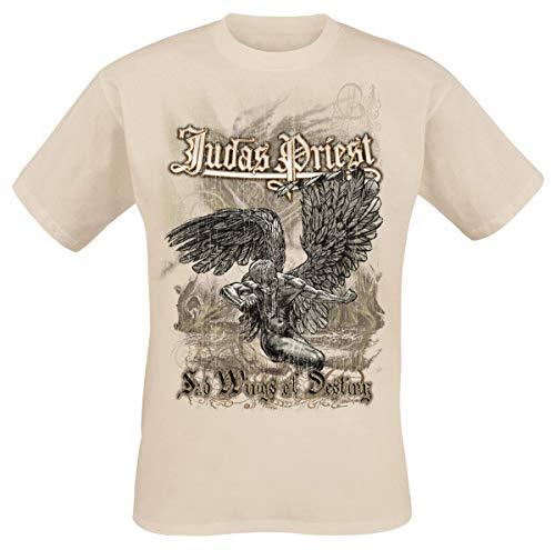Judas Priest Sad Wings of Destiny Hombre Camiseta Beige, Regular