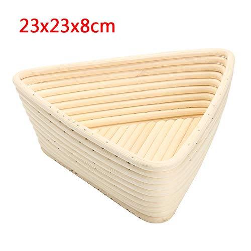 MJJEsports Triangle Banneton Brotform rotan mand brood deeg bewijzen rijzende brood bewijzen 3 maten, 3, 1