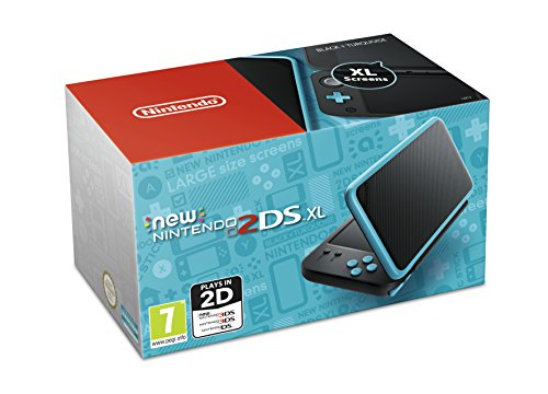 Nintendo Handheld Console - New Nintendo 2DS XL - Black and Turquoise...