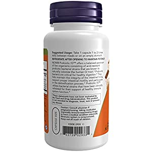 NOW Supplements, Probiotic-10, 25 Billion, with 10 Probiotic Strains, Dairy, Soy and Gluten Free, Strain Verified, 100 Veg Capsules