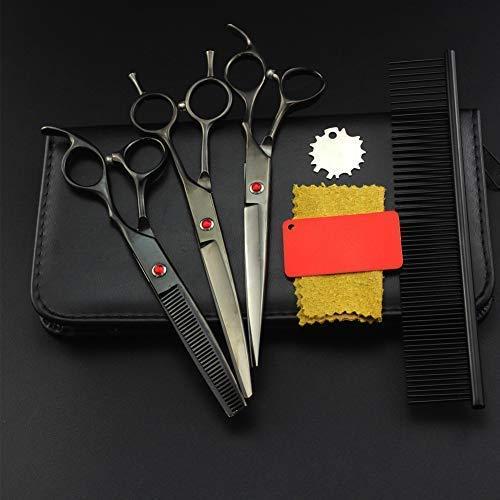 XYSQWZ Ciseaux Coupe-Cheveux Éclaircie, 6,0 Pouces - Ciseaux pour Gauchers Argent Japonais 440C Ensemble De Cheveux en Acier Inoxydable pour Chien Et Chat