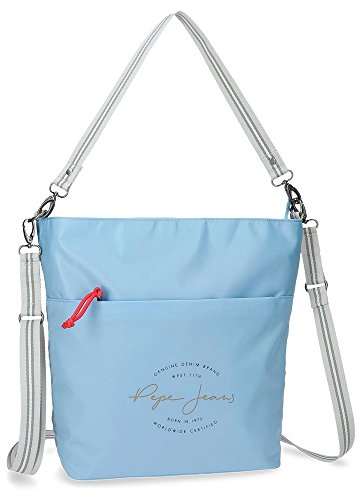 Pepe Jeans Yoga Shopper-Handtasche Blau 29x34x12,5 cms Polyester