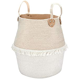 LA JOLIE MUSE Rope Basket Woven Storage Basket – Laundry Basket Large