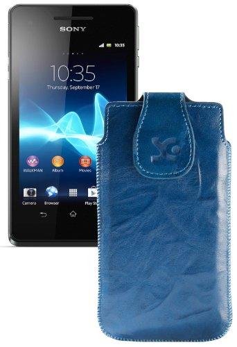 Suncase - Custodia in vera pelle per Sony Xperia V