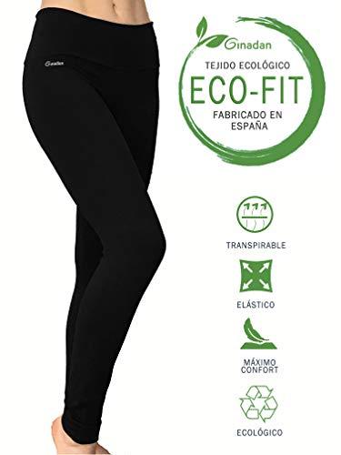 Ginadan Eco-Fit Sensation, Legging Ecológico, Máxima Adaptación, Mujer, Negro, XS
