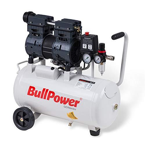 BullPower Flüsterkompressor Silent DK-72 Druckluft Druckluftkompressor leise 63dB - 8bar - 25L - 140 L/min.