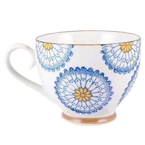 Cabilock Taza de Té Vintage Capuchino Tazas de Café Británico Taza de Té de Porcelana de Hueso Fino Taza de Té de Porcelana Taza de Café Espresso Taza de Desayuno Taza de Agua Retro Taza