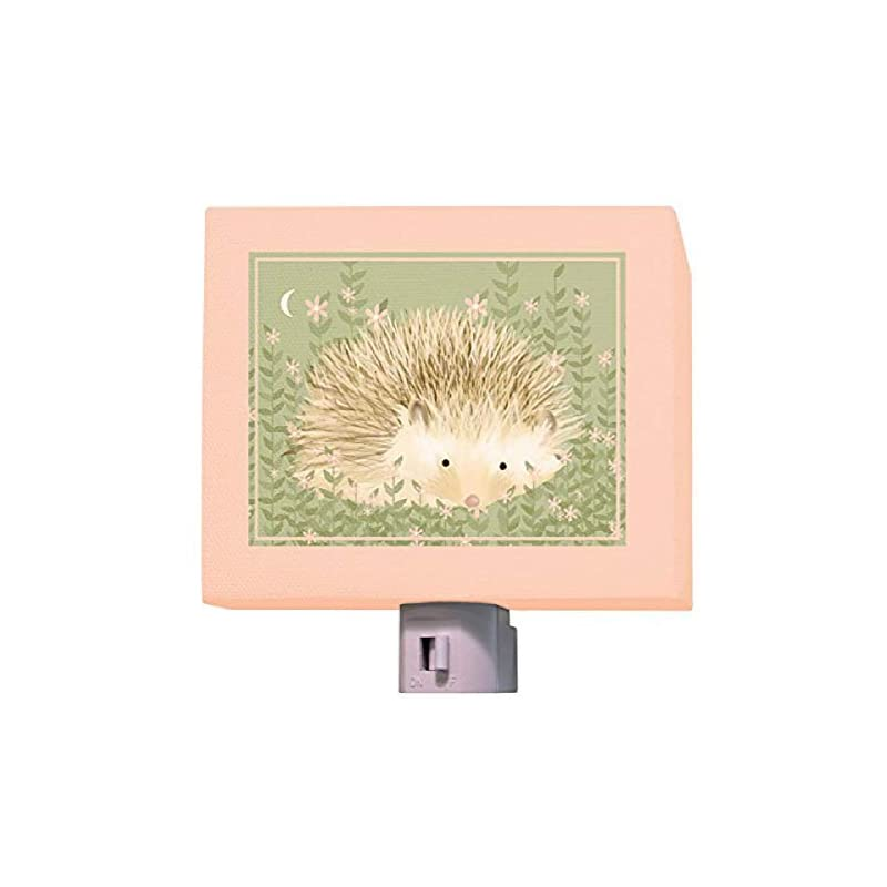 """crib bedding and baby bedding oopsy daisy holly the hedgehog night light, 5"""" x 4"""""""