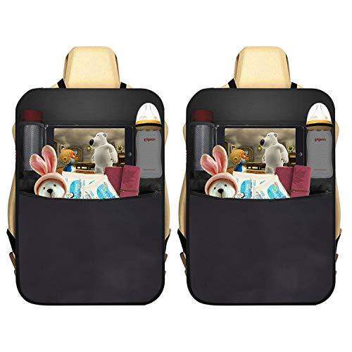 AUTOARK 2 Pack Car Kick Mat Protector 4 Pockets Seat Back...