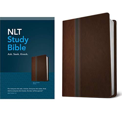 NLT Study Bible, TuTone (Red Letter, LeatherLike, Brown/Slate)