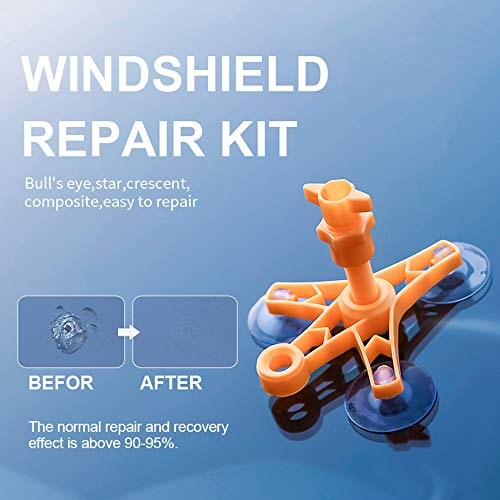 cobcobb Upgraded Windshield Repair Kit – Auto Glass Crack Repair Tools with Premium Repair Resin for Car Windshield Crack Crater Chip and Scratch Fixing(Black)