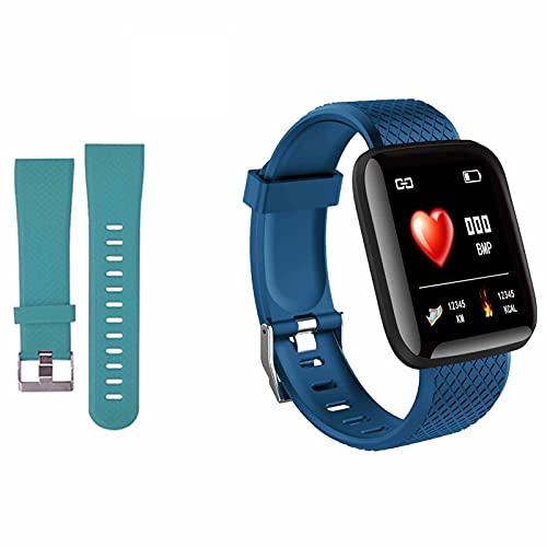 116Plus Reloj Inteligente Deportivo con Pulsera Inteligente para Hombres y Mujeres   con Correa (G)