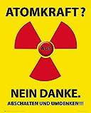 1art1 Atomkraft - Atomkraft Nein Danke Poster Kunstdruck 50