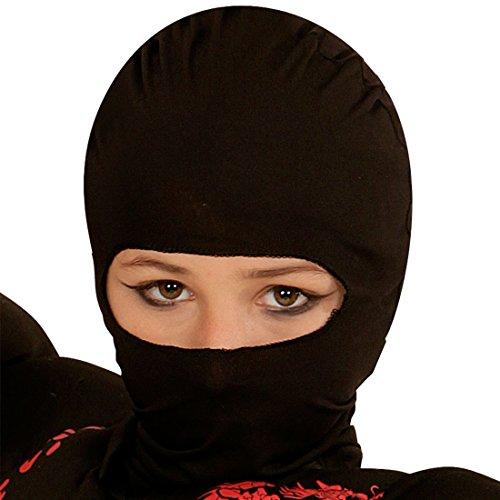 NET TOYS Máscara Infantil Ninja - Negro   Pasamontaña para Niños   Careta Samurai   Accesorio Disfraz Ninja