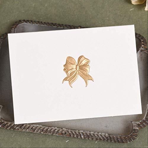 Wenskaarten BLTLYX 12st Creatieve Mini Wenskaart Goud Reliëf Karton 3d Kleine Cadeaukaart Voor Verjaardagsfeestje Relatiegeschenken 6.2 * 8.7cm Strik