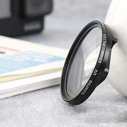 RENYL RENYL Cámara para GoPro Hero 06.07/5 Professional 52 mm filtro UV lente filtro con anillo adaptador y tapa de objetivo
