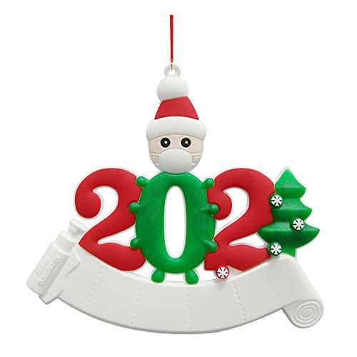 BBQQ Personalizada Supervivente Familia de Ornament 2020 Navidad Decoraciones Decoraciones de Navidad Clearance Árbol Ornamento Rock Topper Luces Pijama para la familia